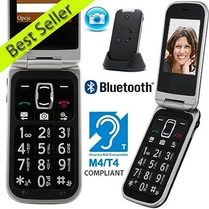 Mobiho-Essentiel le CLASSIC LUXE, le téléphone mobile senior qui le cache bien ! Grosses touches et touche SOS, avec photo, bluetooth,