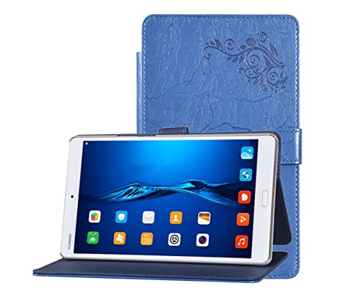 Huawei MediaPad M3 Case, TopAce PU Leather Case With Stand Function For Huawei MediaPad M3 8.4 Inch (Blue)