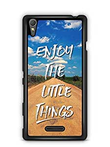 YuBingo Enjoy The Little Things Designer Mobile Case Back Cover for Sony Xperia T3