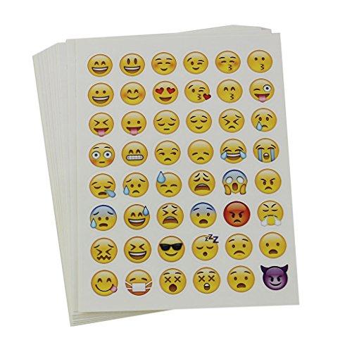 20 Fogli Muoiono Adesivo Emoji Taglio Per La Decorazione Computer Portatile Del Telefono