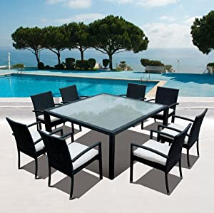 salon de jardin en resine tressee 8 personnes nice. Black Bedroom Furniture Sets. Home Design Ideas