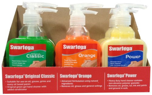 swarfega-srp450mx-caja-expositora-de-6-botellas-de-liquido-de-limpieza-industrial-450-ml-cada-recipi