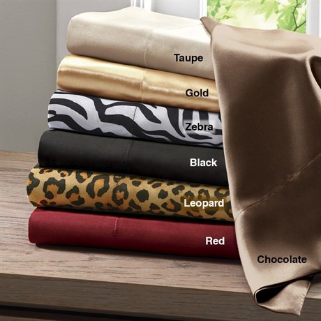 Solid Satin 6 Piece Sheet Set Size: Queen, Color: Chocolate