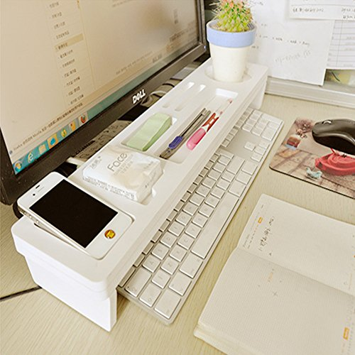 Eco friendly wooden desktop organizer over the keyboard - Over the desk organizer ...