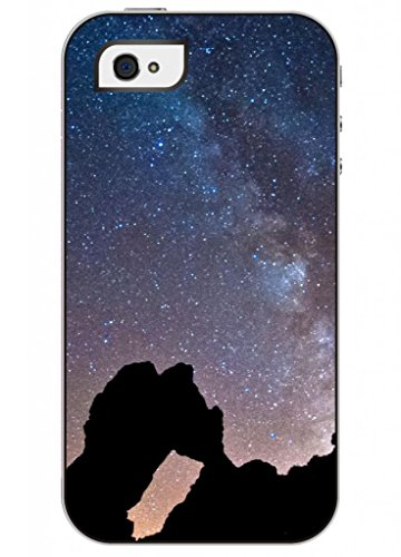 Ouo Fashion Design Of Starry Night Cool Unique High Quality Slim Fit Iphone 4 4S Case For Girls front-451650