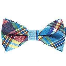Tok Tok Designs® Premium Men\'s Pre-Tied Bow Ties Collection (B325, 100% Cotton)