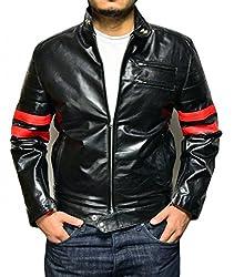Zayn Leather Men's Leather Jacket (465_WLJ_Black_Large)