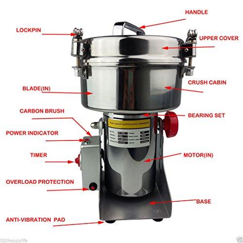 Uuni-WT® 1000g High Speed Electric Herb Grain Grinder Cereal Mill Flour Powder Machine