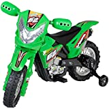 1234-Click 2014 New Quality Electric Ride on Kids Sport Force Motorbike 6V Battery Operated Toy Motorbike in Green, Yellow and Red