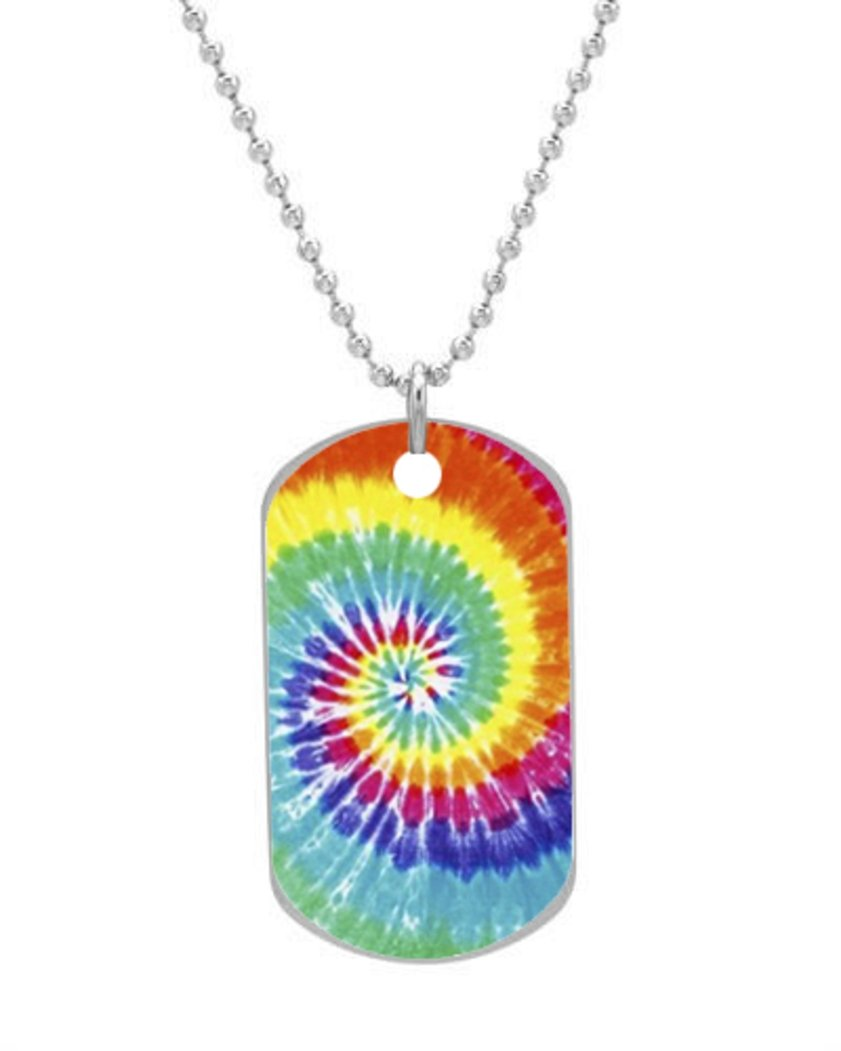 Tie Dye ClinaAy Custom Dimensions 1.3X2.2X0.1 inches ,Comes with 30 inches beads chain dimensions скалистый берег москва