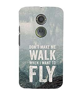 EPICCASE Make me fly Mobile Back Case Cover For Moto X 2nd Gen (Designer Case)