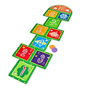 Relaxdays alfombra de juegos juego de rayuela para ni os - Alfombras para jugar ninos ...