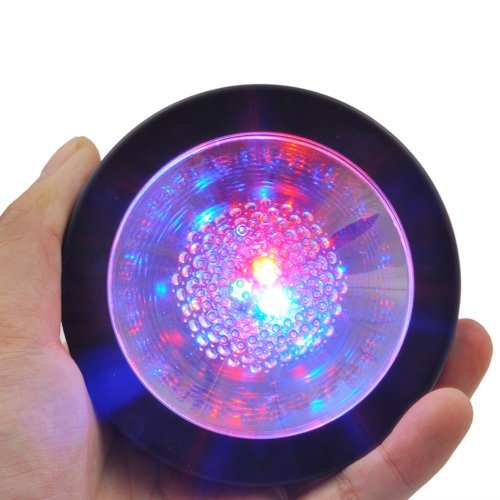 Glovion RGB Color Changing LED Coaster Drink Bottle Cup Coaster Diameter 3.6 Inch (3 AAA Battery Included)