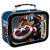 Vandor 26070 Captain America Large Tin Tote, Multicolored