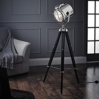 film studio tripod floor lamp houseoflights lighting. Black Bedroom Furniture Sets. Home Design Ideas