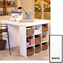 Hot Sale Venture Horizon Project Center With 2 Bookcases - White