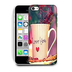 Snoogg Love You Mug Printed Protective Phone Back Case Cover For Apple Iphone 5C