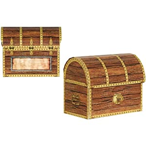 Pirate Treasure Chests Party Accessory (1 count) (4/Pkg)