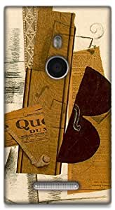 The Racoon Lean Violin & Pipe - Braque hard plastic printed back case / cover for Nokia Lumia 925