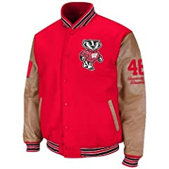 Wisconsin Badgers Varsity Letterman Jacket by Colosseum