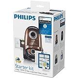 Philips FC8060/01 Kit démarrage aspirateur PerformerPro 4 sacs S-bag Ultra Longue Perf. 5L, filtre sortie HEPA13, filtre moteur, recharge S-fresh