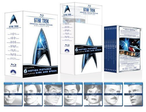 Cover art for  Star Trek: Original Motion Picture Collection (Star Trek I, II, III, IV, V, VI + The Captain's Summit Bonus Disc) [Blu-ray]