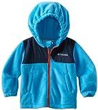 Columbia Little Boys' Snow Buddy Fleece Jacket, Compass Blue/Collegiate Navy, 4T