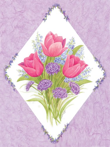 """Art 4 Kids """"Tulip Bouquet"""" Mounted Art Print, 09""""x12"""""""
