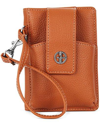giani-bernini-handbag-softy-grab-go-wrist-wallet-brown-color