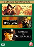 3 Classic Blockbusters: The Last of the Mohicans / Robin Hood: Prince of Thieves / The Green Mile [DVD]