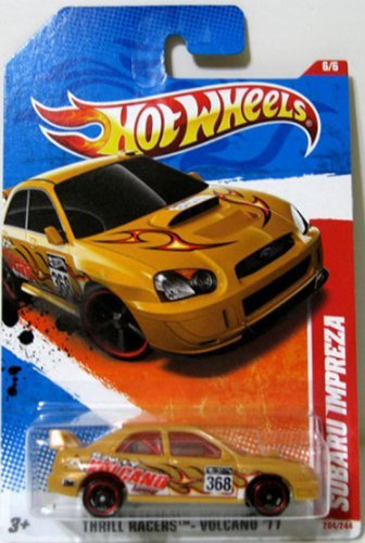2011 Hot Wheels Subaru Impreza Yellow #204/244 - 1