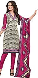 Tripssy Women's Cotton Printed Unstitched Salwar Suit (fb_dm_39, Maroon And Black)