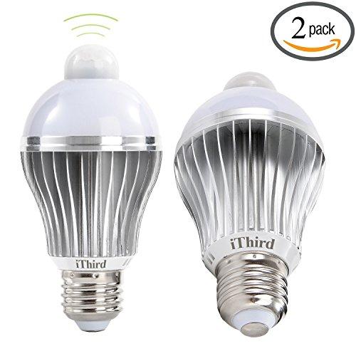 iThird E26 5W LED Motion Sensor Light Bulbs PIR Infrared Motion Detection Light Warm White Indoor/Outdoor Lighting Lamp for Porch Hallway Attic Garage 2 Pack (Motion Sensor Led Porch Light compare prices)