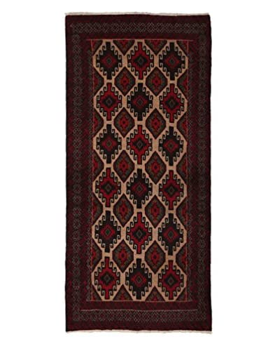 Solo Rugs Persian Baluch Rug, Red, 3' 2 x 6' 6