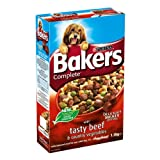 Bakers Complete Delicious Meaty Chunks with Tasty Beef & Country Vegetables 1.5kg (Pack of 4)
