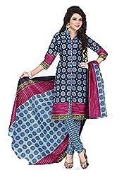 Balaji Fashion Women's cottan print suit D.NO7016_Multi-Coloured