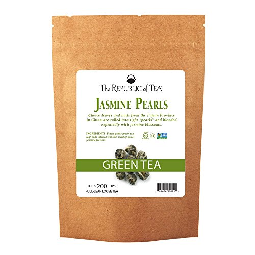 The Republic Of Tea Jasmine Pearls Full-Leaf Loose Green Tea, 1 Pound / 200 Cups