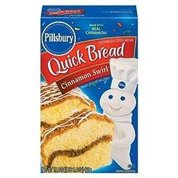 Pillsbury Cinnamon Swirl Quick Bread, 17.4-Ounce Boxes (Pack of 12)