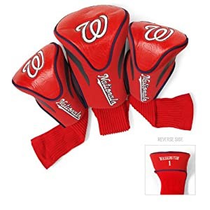 MLB Washington Nationals Contour Head Cover (Pack of 3), Navy by Team Golf