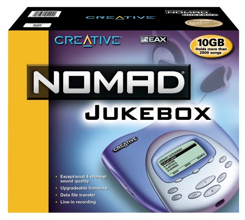Creative Labs NOMAD Jukebox 10 GB MP3 Player