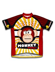 Crazy Banana Monkey Short Sleeve Cycling Jersey for Women