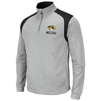 NCAA Missouri Tigers Mens Frost 1 4 Zip Fleece Sweatshirt by Colosseum