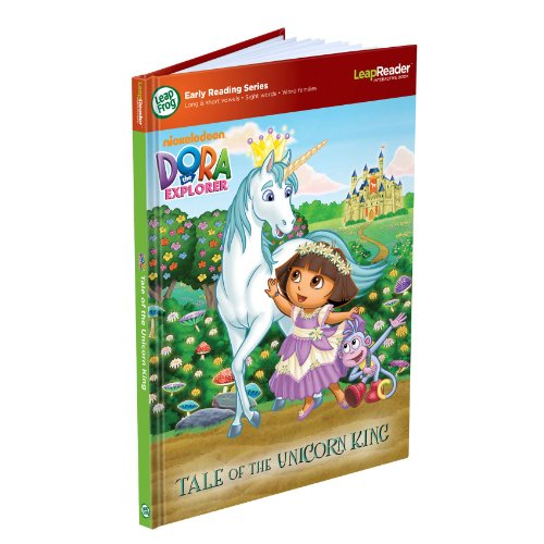 LeapFrog LeapReader Early Reading Book: Nickelodeon Dora the Explorer: Tale of the Unicorn King (works with Tag) - 1