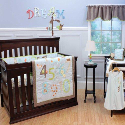 my 123 s 4 piece baby crib bedding set by nurture imaginatio