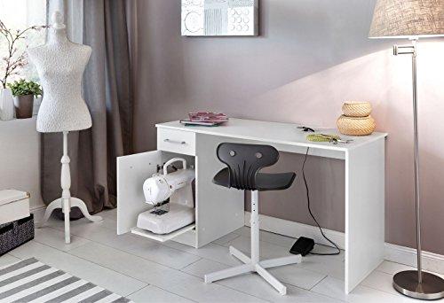 wilmes n hmaschinen tisch mit auszug wei dekor melamin com forafrica. Black Bedroom Furniture Sets. Home Design Ideas