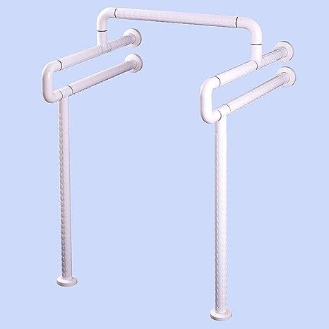 SAEJJ-Urinoir sans barrière main courante pour la rampe handicapés WC urinoir assistance à la sécurité pour les personnes âgées handicapées accoudoir glissière de défense civile , white