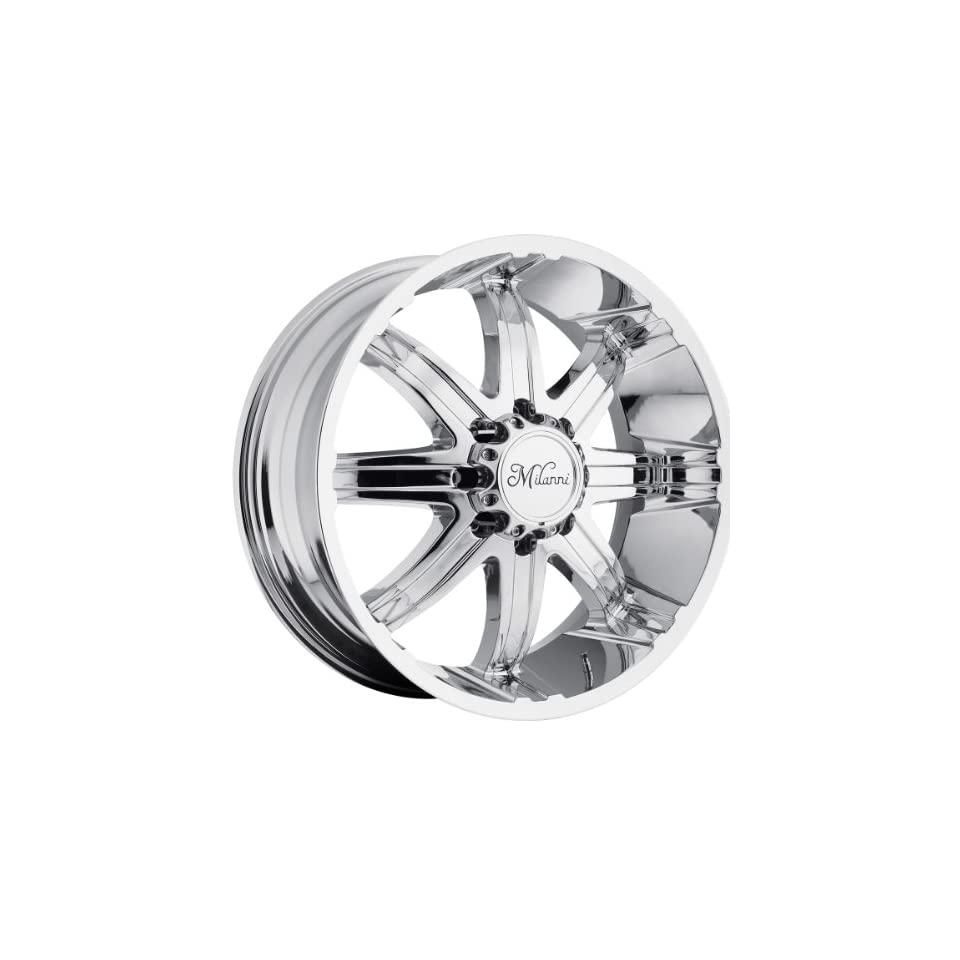 Milanni Kool Whip 8 22 Chrome Wheel / Rim 8x170 with a 18mm Offset and a 130.8 Hub Bore. Partnumber 446 22970C18