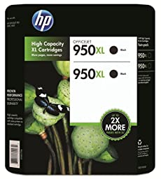 HP 950XL Black Ink Cartridge - Twin Pack