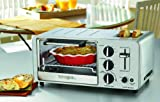 Waring WTO150 4-Slice Toaster Oven with Built-In 2-Slice Toaster