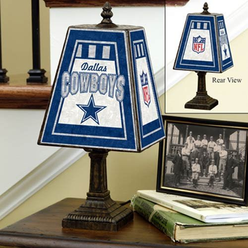 NFL Dallas Cowboys 14 Inch Art Glass Lamp at Amazon.com